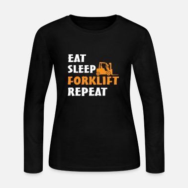 Warehouse Forklift Operator Gift - Eat Sleep Forklift Repeat - Women's Jersey Longsleeve Shirt