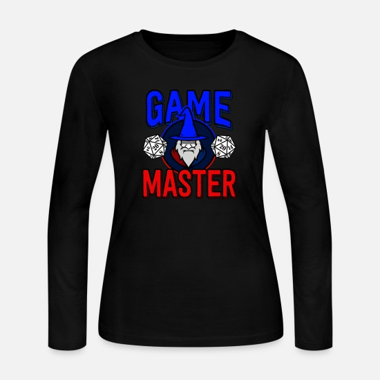 Role Long-Sleeve Shirts - Wizard Dungeons Dragons D&D Role Play Game Gift - Women's Jersey Longsleeve Shirt black
