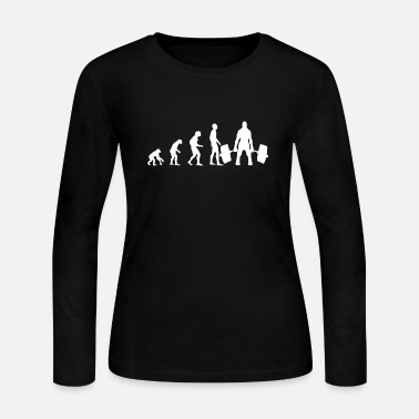 EVOLUTION Weight Lifter White Bodybuilder - Women's Jersey Longsleeve Shirt