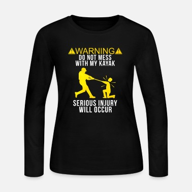 Water Sports Kayaker Funny Gift - Women's Jersey Longsleeve Shirt