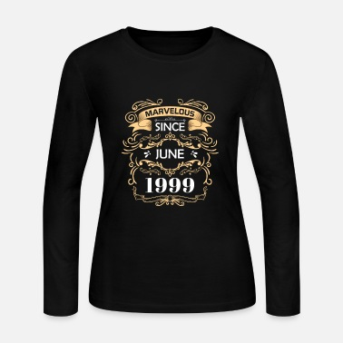 Year Of Birth Fabulous since June 1999 Birthday Gift - Women's Jersey Longsleeve Shirt