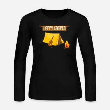 Camping Attire For Happy Camper Camping - Women's Jersey Longsleeve Shirt