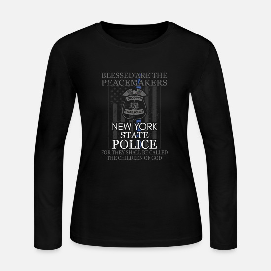 New Long-Sleeve Shirts - New York State Police New York State Trooper Shirt - Women's Jersey Longsleeve Shirt black