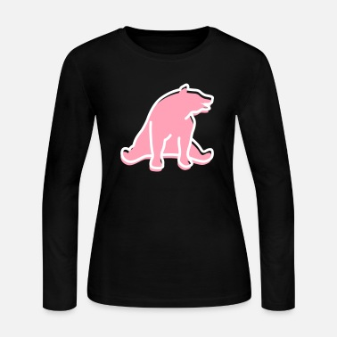 Mammal mammalian A Great Dark Bear - Women's Jersey Longsleeve Shirt