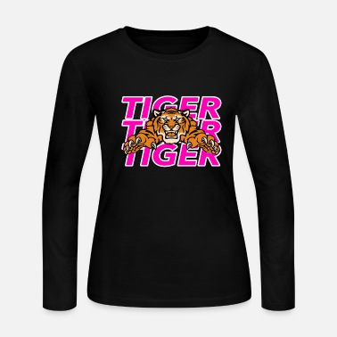 Tiger Tiger Tiger Tiger - Women's Long Sleeve Jersey T-Shirt