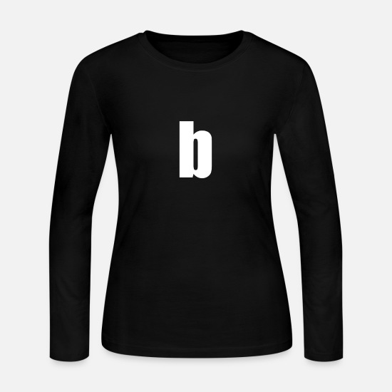 Letter Long sleeve shirts - Letter b alphabet - Women's Jersey Longsleeve Shirt black