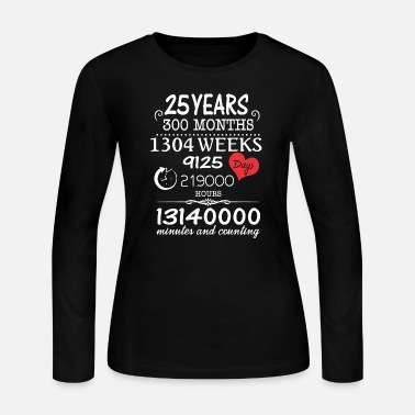 1992 - 25th wedding anniversary - 25 years vintag - Women's Jersey Longsleeve Shirt