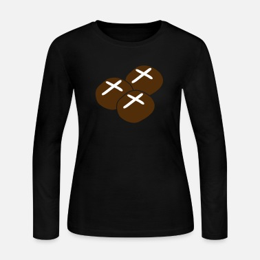 Hot Cross Buns three hot cross buns with crosses - Women's Jersey Longsleeve Shirt