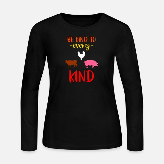 Birthday Long-Sleeve Shirts - Vegan Vegetarian Animal Welfare Veganism Gift - Women's Jersey Longsleeve Shirt black