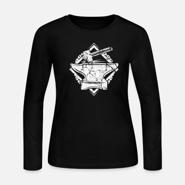 Metalsmith Distressed Vintage Blacksmith Striking Shirt - Women's Jersey Longsleeve Shirt