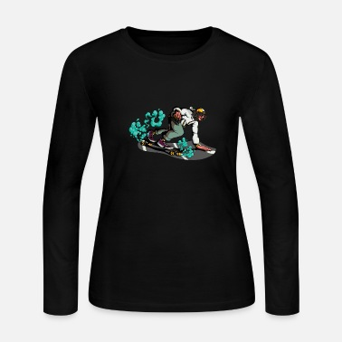 2020 Cool longboard downhill skater cartoon - Women's Jersey Longsleeve Shirt