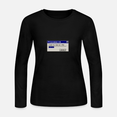 error 404 design not found vaporwave aesthetic - Women's Jersey Longsleeve Shirt