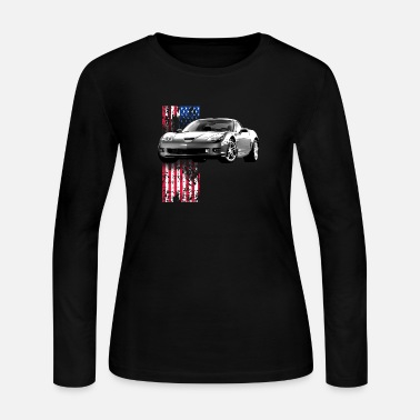 Corvette Vette tear it up! - Women's Jersey Longsleeve Shirt