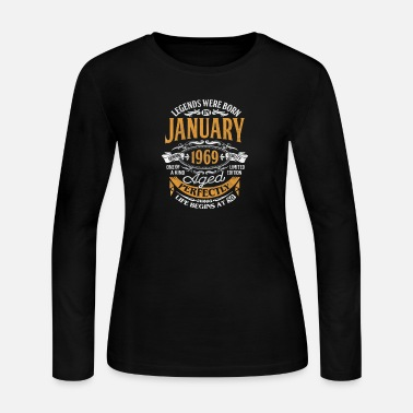 Legends Were Born In January 1969 50th Birthday - Women's Long Sleeve Jersey T-Shirt