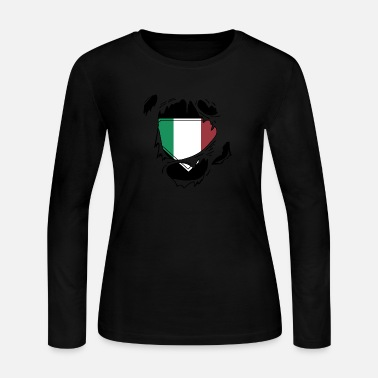 Schland Proud Italian flag - Awesome Italian flag t - sh - Women's Long Sleeve Jersey T-Shirt