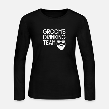 Brew Team Groom Bachelor Party Crew Retro Group Shirt - Women's Jersey Longsleeve Shirt