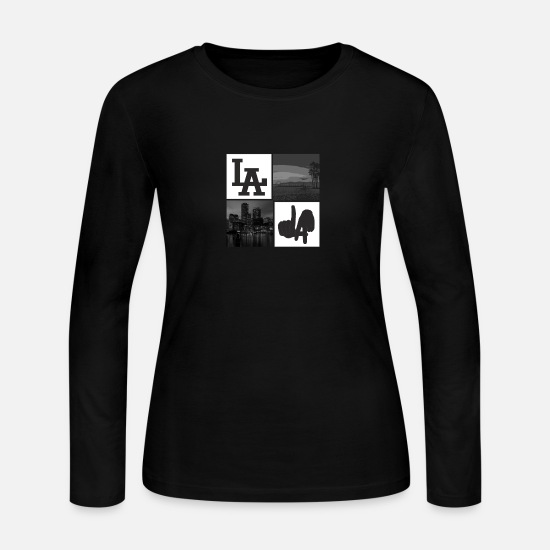City Long-Sleeve Shirts - Los Angeles - Women's Jersey Longsleeve Shirt black
