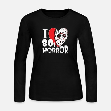 Picture Horror - i love 80s horror movies hq - Women's Jersey Longsleeve Shirt