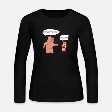 Bacon',i-am your-father,funny,comedy,gift, - Women's Long Sleeve Jersey T-Shirt