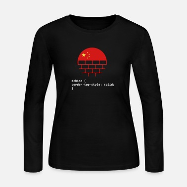 Wall Great Wall Of China - Women's Long Sleeve Jersey T-Shirt