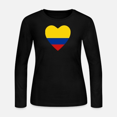 4ac422bf371 Colombia Flag Heart Women's Jersey T-Shirt | Spreadshirt