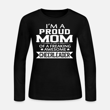 Mother I'M A PROUD CHEERLEADER's MOM - Women's Long Sleeve Jersey T-Shirt