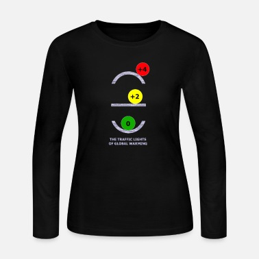 TRAFFIC LIGHTS OF GLOBAL WARMING - Women's Jersey Longsleeve Shirt