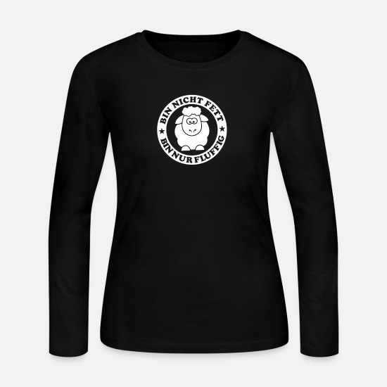 Game Long-Sleeve Shirts - Bin Nicht Fett - Women's Jersey Longsleeve Shirt black