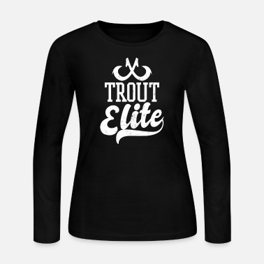 Trout Rainbow Trout Trout Elite Gift - Women's Long Sleeve Jersey T-Shirt