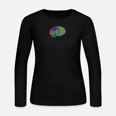 Region Regions of the brain - Women's Long Sleeve Jersey T-Shirt