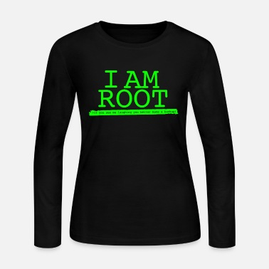 Linux - i'm root linux by linux - Women's Long Sleeve Jersey T-Shirt