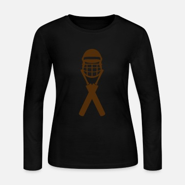 Batting Helmet cricket bat helmet 1303_logo - Women's Jersey Longsleeve Shirt