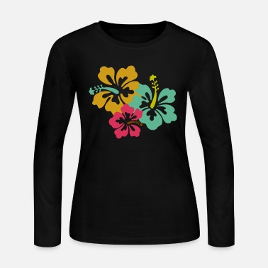 Caribbean Caribbean Flowers - Women's Long Sleeve Jersey T-Shirt