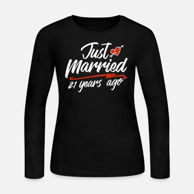 China Just Married 21 Year Ago Funny Wedding - Women's Jersey Longsleeve Shirt
