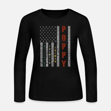 Man Poppy The Man The Myth The Legend - Women's Long Sleeve Jersey T-Shirt