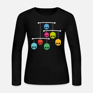 Mobile Mobile with Skulls - Women's Long Sleeve Jersey T-Shirt