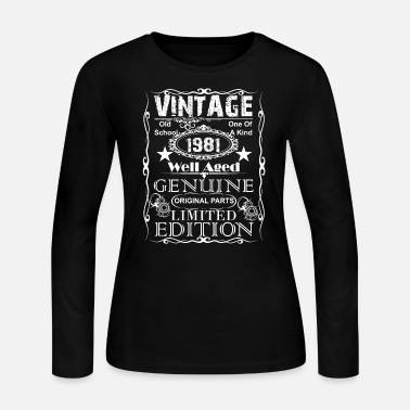 38th Birthday Gift Present Year 1981 Womens Crewneck T-Shirt Limited Aged To