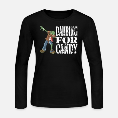 Funny Halloween Zombie Dabbing For Candy. Trick - Women's Long Sleeve Jersey T-Shirt