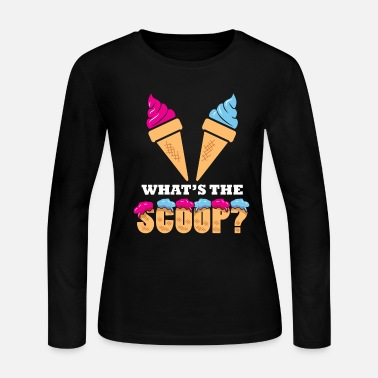 Party Gender Reveal Party - Ice cream What the scoop? - Women's Jersey Longsleeve Shirt