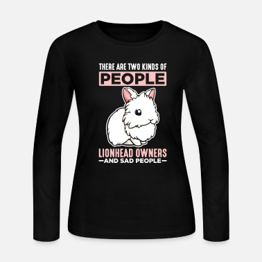 Funny Rabbit Lion Head Rabbit Owner Sad People Animal Lover - Women's Jersey Longsleeve Shirt