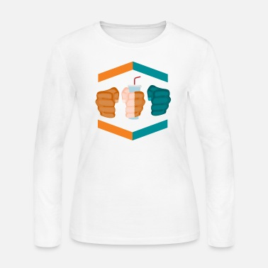 Gamebred Sticker 3 Piece And A Soda Gamebred MMA Dolphins Fighter - Women's Jersey Longsleeve Shirt