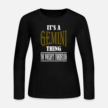 Gemini Man It's A Gemini Thing - Women's Jersey Longsleeve Shirt