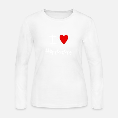 Horrorcore I love Horrorcore - Women's Jersey Longsleeve Shirt