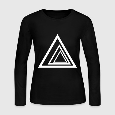 Triangles - Women's Long Sleeve Jersey T-Shirt