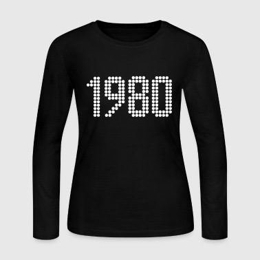 1980, Numbers, Year, Year Of Birth - Women's Long Sleeve Jersey T-Shirt
