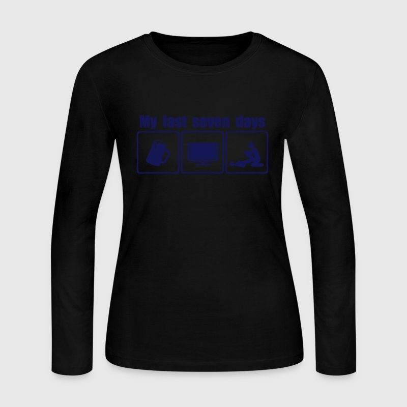 my last seven days beer sex tv - Women's Long Sleeve Jersey T-Shirt