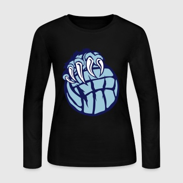 volleyball paw bear beast claws - Women's Long Sleeve Jersey T-Shirt