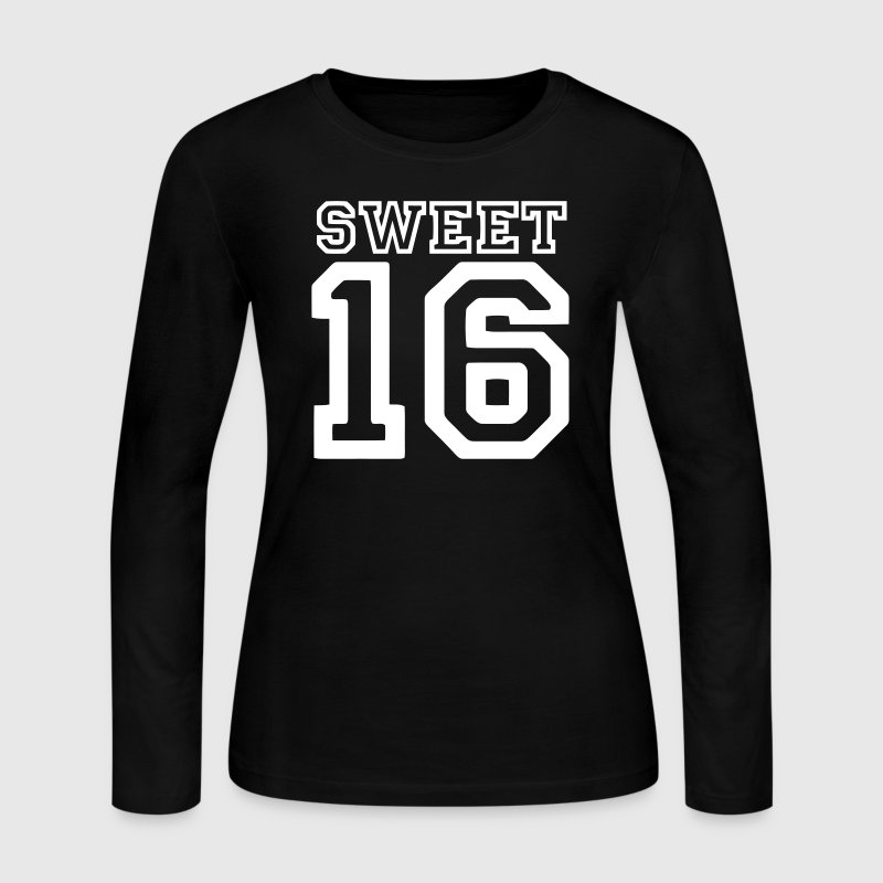 sweet 16 - Women's Long Sleeve Jersey T-Shirt