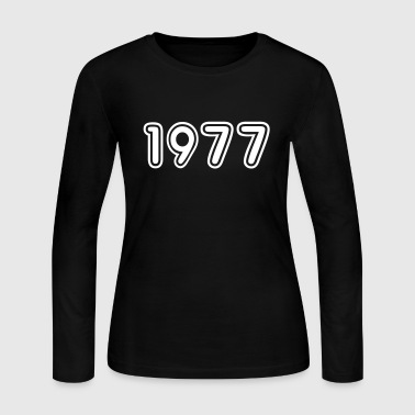 1977, Numbers, Year, Year Of Birth - Women's Long Sleeve Jersey T-Shirt