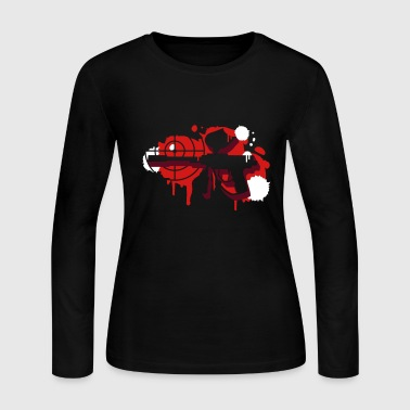 A paintball gun with a crosshair as a graffiti - Women's Long Sleeve Jersey T-Shirt